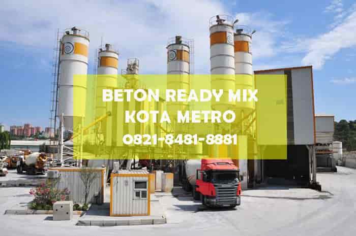 harga beton cor ready mix metro