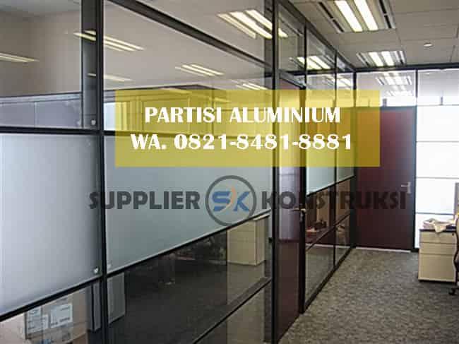 harga jasa pasang partisi aluminium lampunga